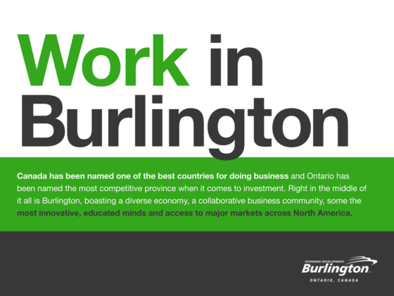 Image of a Cover for Burlington Economic Development Marketing Infographic