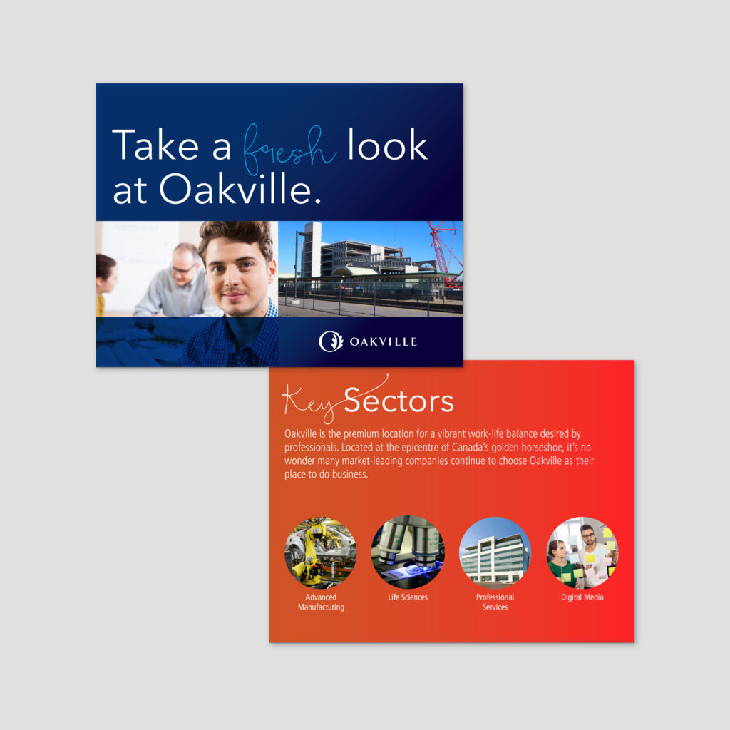 Oakville Economic Development Brand Identity Designs