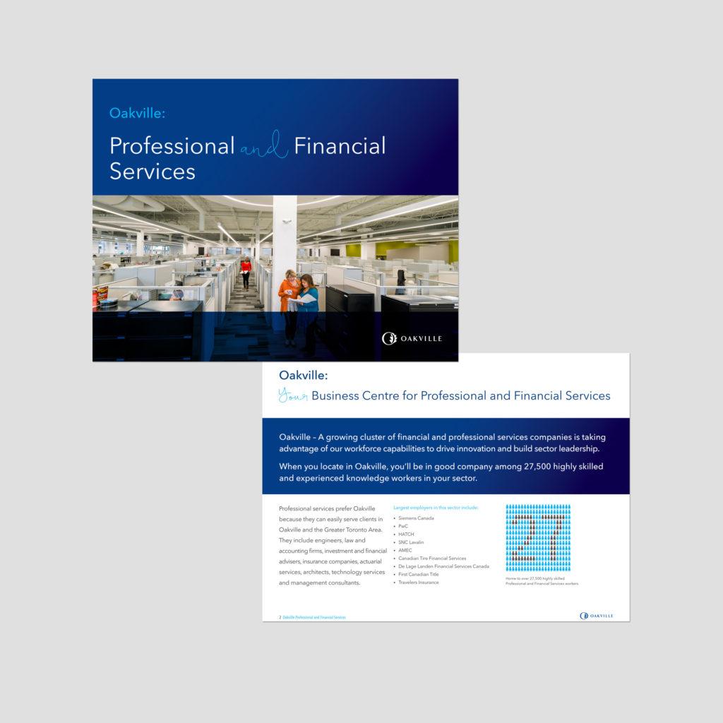 Oakville Economic Development Sector Profile Design