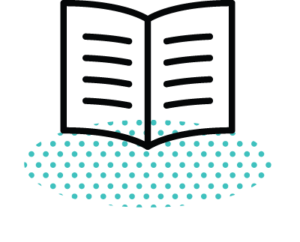 Icon showing an open book