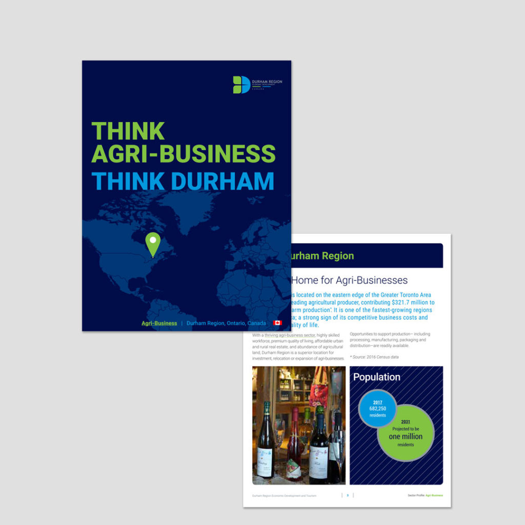Durham Region Economic Development Brand Identity Design