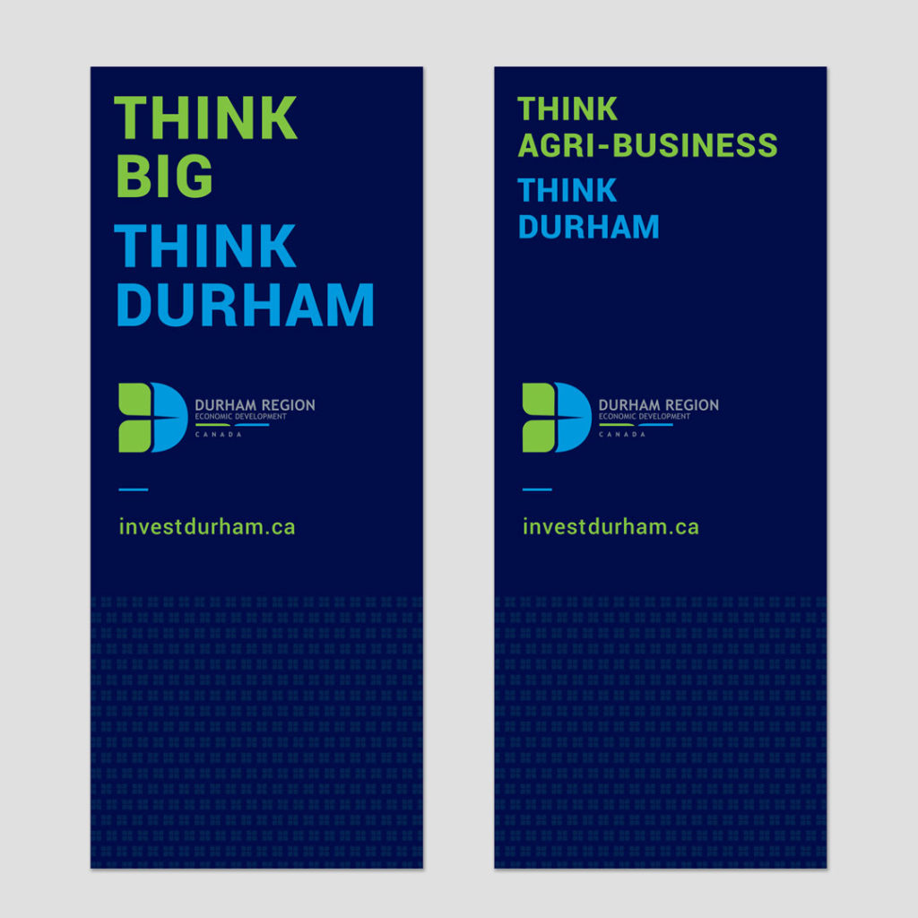 Durham Region Economic Development Brand Identity Banner Design