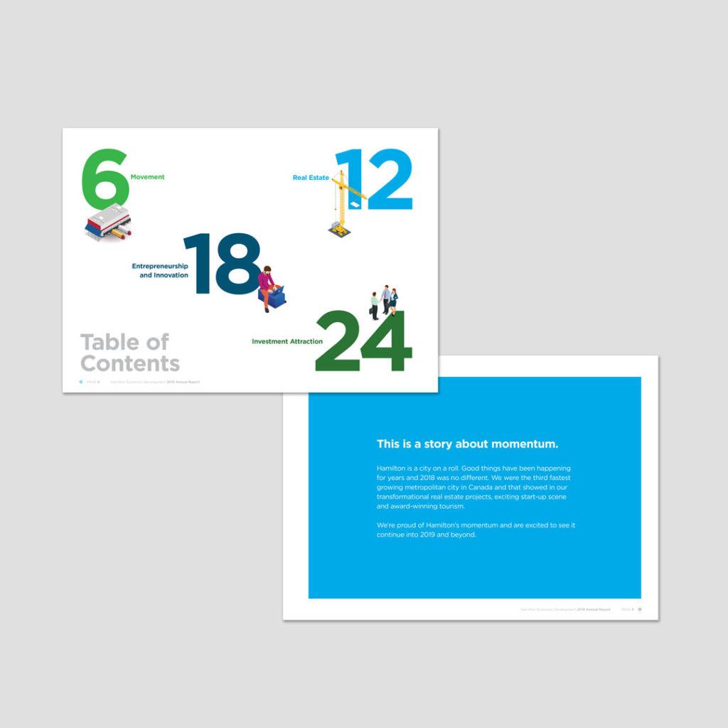 Hamilton Economic Development Annual Report Design