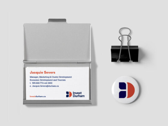 Durham Region Business Cards and Pin Design
